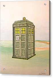 Doctor Who Tardis Acrylic Print by Gordon Wendling