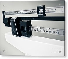 Doctor's Sliding Weight Balance Beam Scale Acrylic Print by Paul Velgos