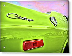 Dodge Challenger In Sublime Green Acrylic Print by Gordon Dean II