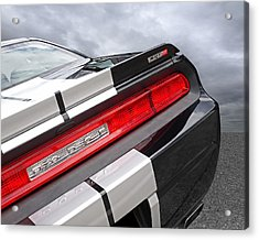 Dodge Challenger Srt Rear Detail Acrylic Print by Gill Billington