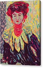 Dodo Or Isabella With A Ruffed Collar Acrylic Print by Ernst Ludwig Kirchner
