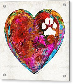 Dog Art - Puppy Love 2 - Sharon Cummings Acrylic Print by Sharon Cummings