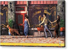 Dog Walkers Acrylic Print by Daniel Eskridge