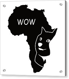 Dogecoin In Africa Acrylic Print by Michael Jordan