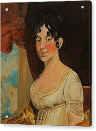 Dolley Madison Acrylic Print by Jan Mecklenburg