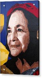 Dolores Huerta Acrylic Print by Roberto Valdes Sanchez