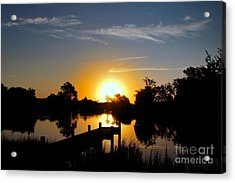 Dolphin Cove Sunrise Acrylic Print by Benanne Stiens