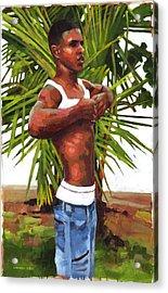 Dominican Beach Acrylic Print by Douglas Simonson