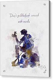 Don't Gobblefunk Around With Words Acrylic Print by Rebecca Jenkins