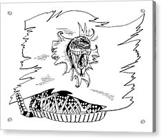 Don't Tread On Me Or Gadsden Flag Acrylic Print by Scarlett Royal