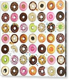 Donut Acrylic Print by Ann Foo