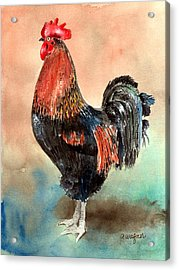 Doodle Acrylic Print by Arline Wagner