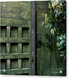 Door With Padlock Acrylic Print by Bernard Jaubert
