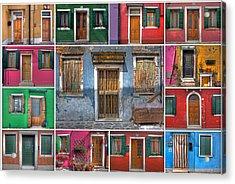 doors and windows of Burano - Venice Acrylic Print by Joana Kruse