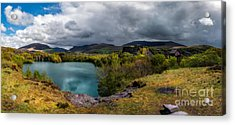 Dorothea Quarry Panorama Acrylic Print by Adrian Evans