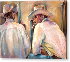 Dos Amigos Acrylic Print by Joan  Jones