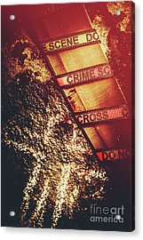 Double Crossing Crime Scene Investigation Acrylic Print by Jorgo Photography - Wall Art Gallery
