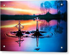 Double Liquid Art Acrylic Print by William Lee