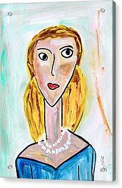Double Strand Acrylic Print by Mary Carol Williams