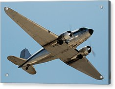 Douglas Dc-3 Rose At Hawthorne Acrylic Print by Brian Lockett