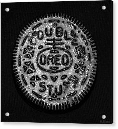 Doulble Stuff Oreo In Black And White Acrylic Print by Rob Hans