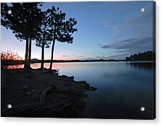 Dowdy Lake Silhouette Acrylic Print by James Steele