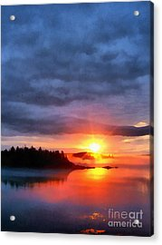 Down East Sunset Maine Acrylic Print by Edward Fielding