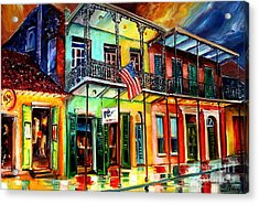 Down On Bourbon Street Acrylic Print by Diane Millsap