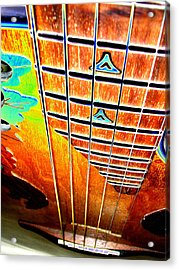 Down The Fingerboard Acrylic Print by Peter  McIntosh