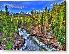 Down The River Acrylic Print by Scott Mahon