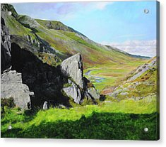 Down The Valley Acrylic Print by Harry Robertson