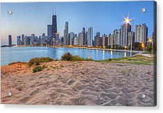 Downtown Chicago From North Beach Acrylic Print by Twenty Two North Photography