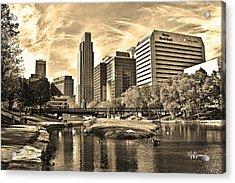 Downtown Omaha Nebraska Acrylic Print by Jeff Swanson