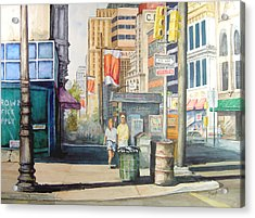 Downtown Acrylic Print by Sam Sidders