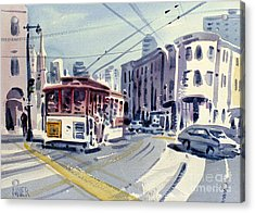 Downtown San Francisco Acrylic Print by Donald Maier