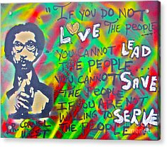 Dr. Cornel West  Love The People Acrylic Print by Tony B Conscious