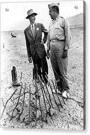 Dr. J. Robert Oppenheimer, With Maj Acrylic Print by Everett