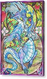 Dragon Apples Acrylic Print by Jenn Cunningham