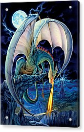 Dragon Causeway Acrylic Print by The Dragon Chronicles - Robin Ko