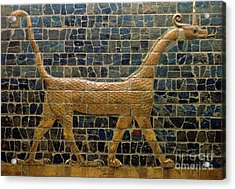 Dragon Of Marduk - On The Ishtar Gate Acrylic Print by Anonymous