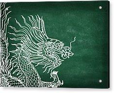 Dragon On Chalkboard Acrylic Print by Setsiri Silapasuwanchai