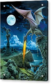 Dragon Spit Acrylic Print by The Dragon Chronicles - Robin Ko