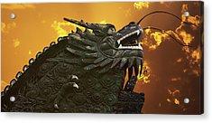 Dragon Wall - Yu Garden Shanghai Acrylic Print by Christine Till