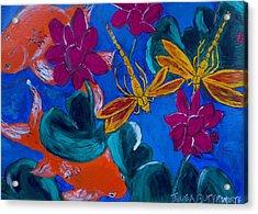 Dragonflys Acrylic Print by Julie Butterworth