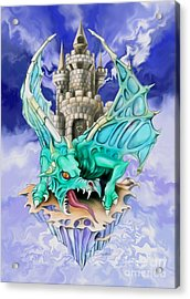 Dragons Keep By Spano Acrylic Print by Michael Spano