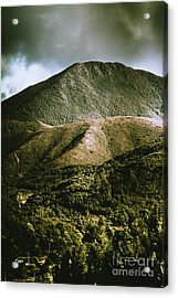 Dramatic View On Mount Zeehan Against Stormy Cloud Acrylic Print by Jorgo Photography - Wall Art Gallery