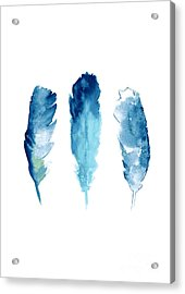 Dream Catcher Feathers Painting Acrylic Print by Joanna Szmerdt