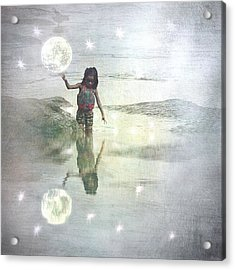 To Touch The Moon Acrylic Print by Melissa D Johnston