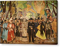 Dream In The Alameda Diego Rivera Mexico City Acrylic Print by John  Mitchell