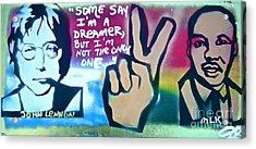 Dreamers Acrylic Print by Tony B Conscious